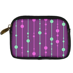 Purple and green pattern Digital Camera Cases