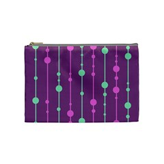 Purple and green pattern Cosmetic Bag (Medium)