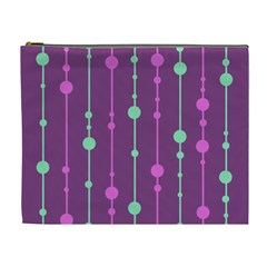Purple and green pattern Cosmetic Bag (XL)