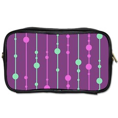 Purple and green pattern Toiletries Bags