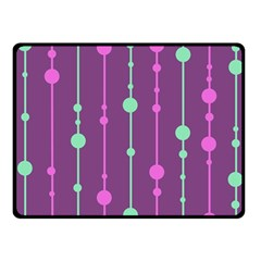 Purple and green pattern Fleece Blanket (Small)