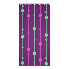Purple and green pattern Shower Curtain 36  x 72  (Stall)