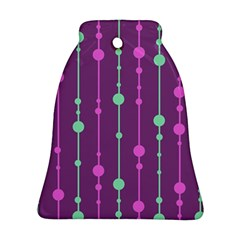 Purple and green pattern Bell Ornament (2 Sides)