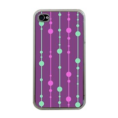 Purple and green pattern Apple iPhone 4 Case (Clear)