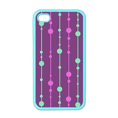Purple and green pattern Apple iPhone 4 Case (Color)