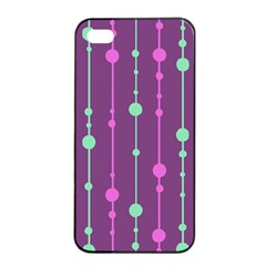 Purple and green pattern Apple iPhone 4/4s Seamless Case (Black)