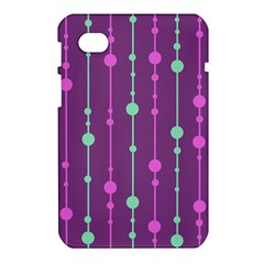 Purple and green pattern Samsung Galaxy Tab 7  P1000 Hardshell Case