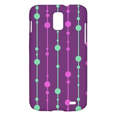 Purple and green pattern Samsung Galaxy S II Skyrocket Hardshell Case