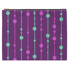 Purple and green pattern Cosmetic Bag (XXXL)