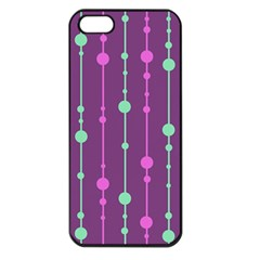 Purple and green pattern Apple iPhone 5 Seamless Case (Black)