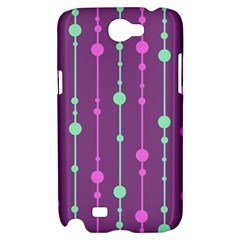 Purple and green pattern Samsung Galaxy Note 2 Hardshell Case