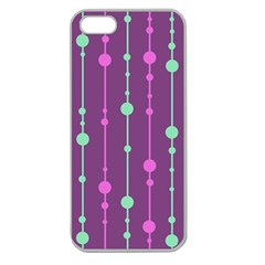 Purple and green pattern Apple Seamless iPhone 5 Case (Clear)