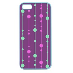 Purple and green pattern Apple Seamless iPhone 5 Case (Color)