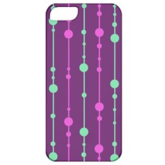 Purple and green pattern Apple iPhone 5 Classic Hardshell Case