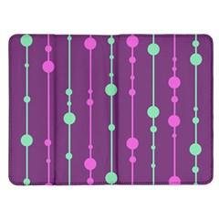 Purple and green pattern Kindle Fire (1st Gen) Flip Case