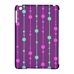 Purple and green pattern Apple iPad Mini Hardshell Case (Compatible with Smart Cover)