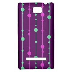 Purple and green pattern HTC 8S Hardshell Case