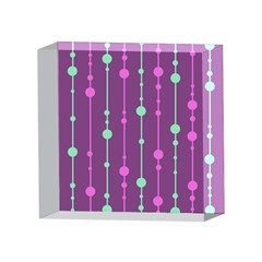 Purple and green pattern 4 x 4  Acrylic Photo Blocks
