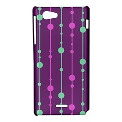 Purple and green pattern Sony Xperia J