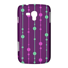 Purple and green pattern Samsung Galaxy Duos I8262 Hardshell Case