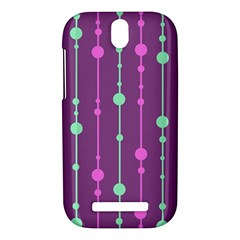 Purple and green pattern HTC One SV Hardshell Case