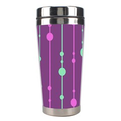 Purple and green pattern Stainless Steel Travel Tumblers