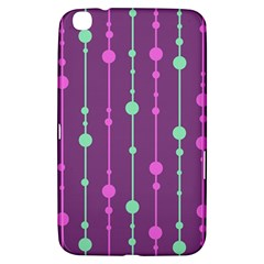 Purple and green pattern Samsung Galaxy Tab 3 (8 ) T3100 Hardshell Case