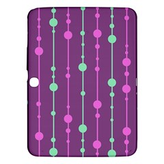 Purple and green pattern Samsung Galaxy Tab 3 (10.1 ) P5200 Hardshell Case