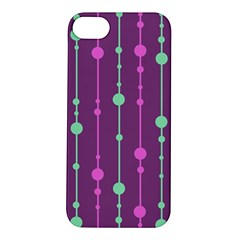 Purple and green pattern Apple iPhone 5S/ SE Hardshell Case
