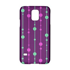Purple and green pattern Samsung Galaxy S5 Hardshell Case