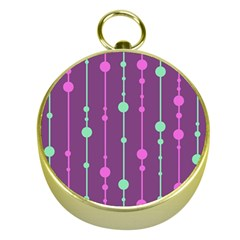 Purple and green pattern Gold Compasses