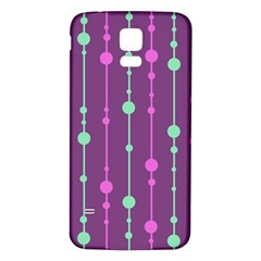 Purple and green pattern Samsung Galaxy S5 Back Case (White)