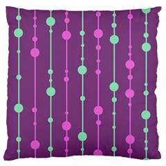 Purple and green pattern Large Flano Cushion Case (Two Sides)