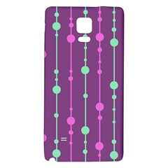 Purple and green pattern Galaxy Note 4 Back Case