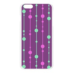 Purple and green pattern Apple Seamless iPhone 6 Plus/6S Plus Case (Transparent)
