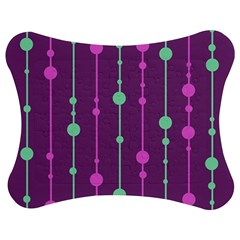 Purple and green pattern Jigsaw Puzzle Photo Stand (Bow)
