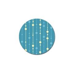 Blue pattern Golf Ball Marker (4 pack)