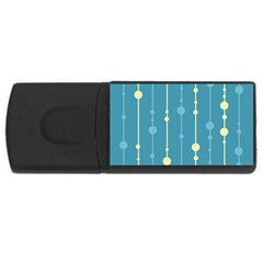 Blue pattern USB Flash Drive Rectangular (4 GB)