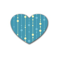 Blue pattern Heart Coaster (4 pack)