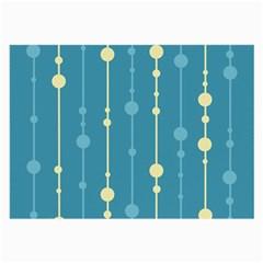 Blue pattern Large Glasses Cloth (2-Side)