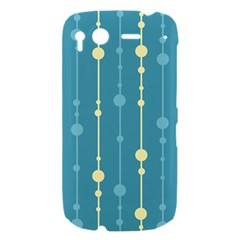 Blue pattern HTC Desire S Hardshell Case