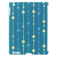 Blue pattern Apple iPad 3/4 Hardshell Case (Compatible with Smart Cover)
