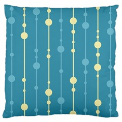 Blue pattern Large Cushion Case (Two Sides)