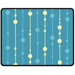 Blue pattern Double Sided Fleece Blanket (Medium)