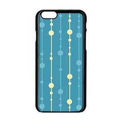 Blue pattern Apple iPhone 6/6S Black Enamel Case