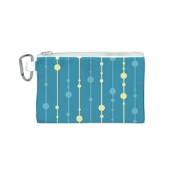 Blue pattern Canvas Cosmetic Bag (S)