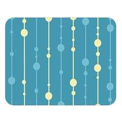 Blue pattern Double Sided Flano Blanket (Large)