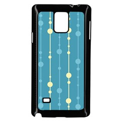 Blue pattern Samsung Galaxy Note 4 Case (Black)