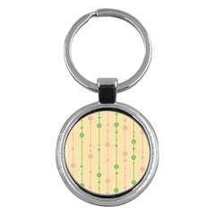 Pastel pattern Key Chains (Round)