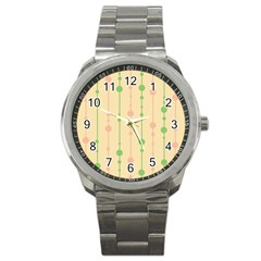 Pastel pattern Sport Metal Watch